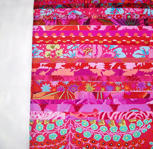 my fabrics for the quilt along