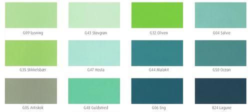grøn farvekort