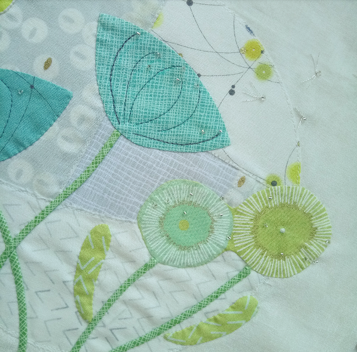 Close-up-of-dewdrops-applique-by-dawn-honeybee-cloths