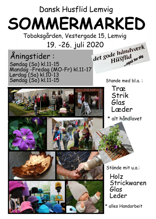 Sommermarked 2020 plakat
