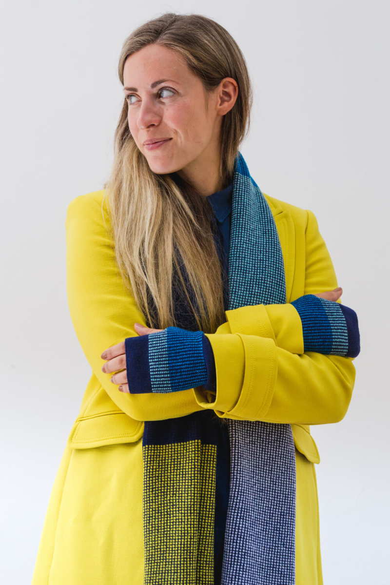 Lismore+Scarf+and+matching+fingerless+mitts.+A+soft+lambswool+scarf+designed+and+made+in+Scotland.+Luxury+Contemporary+Knitwear+by+Collingwood-Norris